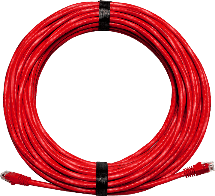 Red Ethernet Cable